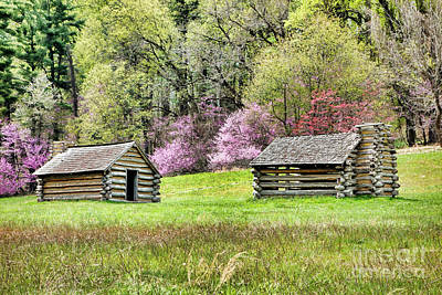 Log Cabins Photograph - On A Hill At Valley Forge by Olivier Le Queinec