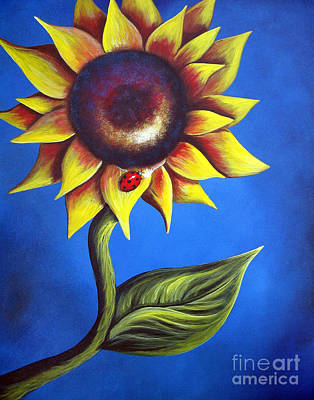 Sunflowers Painting - On A Hot Summer's Day By Shawna Erback by Shawna Erback