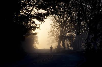 Beam Digital Art - On A Morning Jog by Bill Cannon
