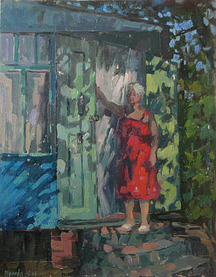 Painting - On A Porch by Juliya Zhukova