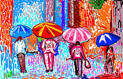 On A Rainy Day Art Print by Anand Swaroop Manchiraju