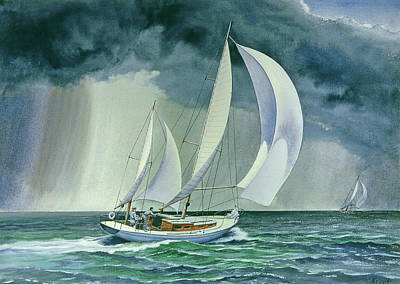 Sailboat Painting - On A Reach by Paul Krapf