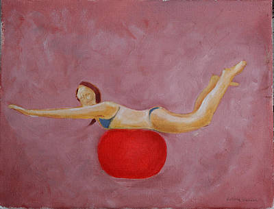 Painting - On A Red Ball by Victoria Sheridan