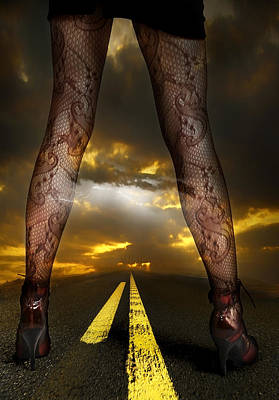 Shoe Digital Art - On A Road by Svetlana Sewell