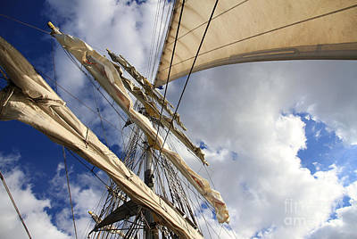On A Sail Ship Art Print