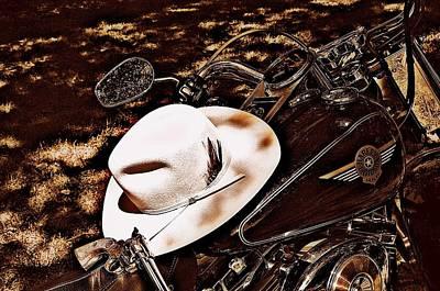On A Steel Horse Art Print by Karen Kersey