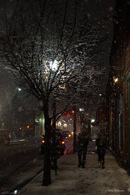 On A Walk In The Snow - Grants Pass Art Print by Mick Anderson