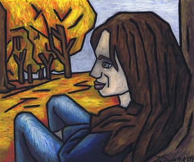 On A Warm Autumn Day Art Print by Kamil Swiatek