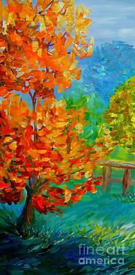 On A Windy Autumn Day Art Print