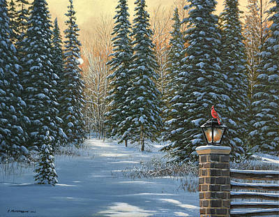 Painting - On A Winter's Light by Jake Vandenbrink
