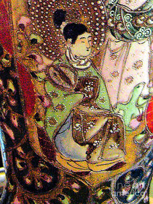 Photograph - On An Antique Chinese  Vase by Merton Allen