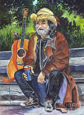 New Jersey Musician Painting - Takin A Break by Carol Wisniewski