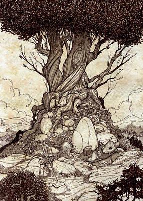 On Break Art Print by Harry Briggs