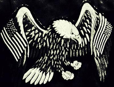 On Eagles Wings Patriotism Art Print by Patricia Januszkiewicz