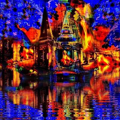 Pop Art Photograph - On Fire I by Barbs Popart