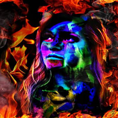 Pop Art Photograph - On Fire IIi by Barbs Popart
