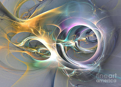 Digital Art - On Fire - Abstract Art by Sipo Liimatainen