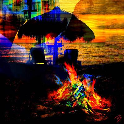 Pop Art Photograph - On Fire V by Barbs Popart