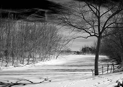 On Frozen Pond Art Print