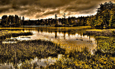 Photograph - On Golden Pond - Raquette Lake In The Adirondack Mountains Of New York by David Patterson