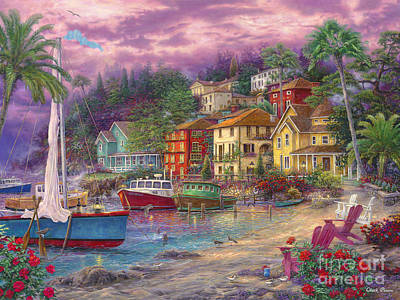 On Golden Shores Art Print by Chuck Pinson