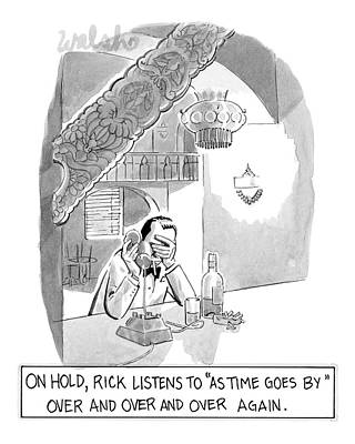 On Hold, Rick Listens To 'as Time Goes By' Art Print