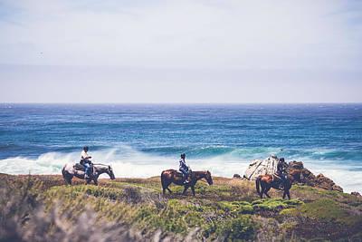 Photograph - On Horseback by Michael Muchnij