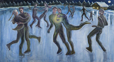 Painting - On Ice by Laura Lee Cundiff