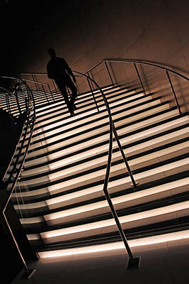 Photograph - On Illuminated Stairs by Cora Wandel