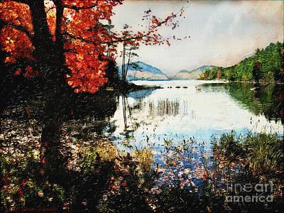 On Jordan Pond Art Print by Lianne Schneider