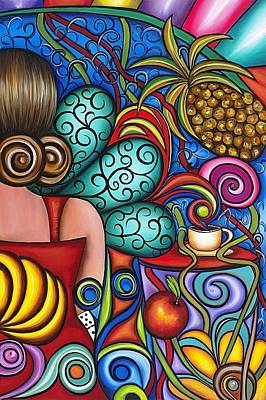 Espresso Painting - On My Mind by Annie Maxwell