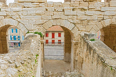 Photograph - On Of The Entrances To Roman Amphiteathre In Arles France. by Marek Poplawski
