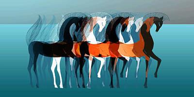 Animals Digital Art - On Parade by Stephanie Grant