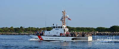 Photograph - Coast Guard On Patrol by Bob Sample