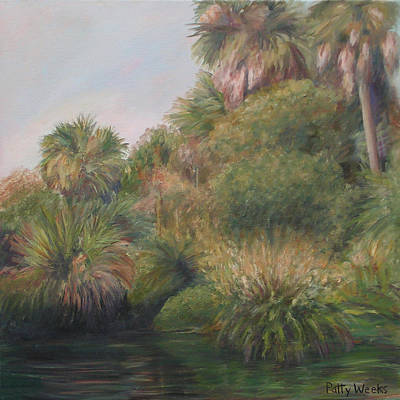 Fauna Painting - On Pellicer Creek by Patty Weeks