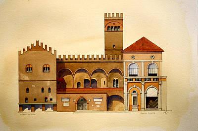 on Piazza Maggiore Art Print