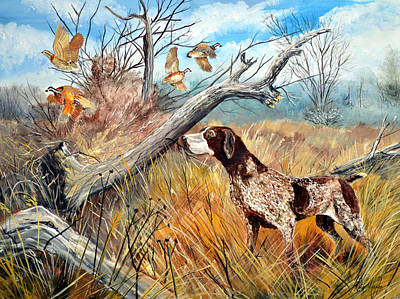 Upland Game Birds Painting - On Point by Alvin Hepler