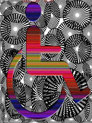 Digital Art - On Rolling Chair by Laura Pierre-Louis