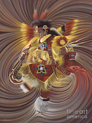 American Indian Painting - On Sacred Ground Series 4 by Ricardo Chavez-Mendez