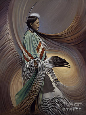 Suede Painting - On Sacred Ground Series I by Ricardo Chavez-Mendez