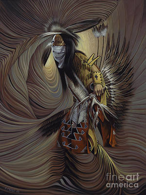 Oro Painting - On Sacred Ground Series IIl by Ricardo Chavez-Mendez