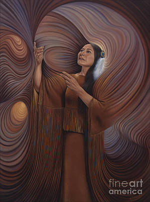 Oro Painting - On Sacred Ground Series V by Ricardo Chavez-Mendez
