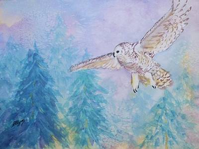 Painting - On Silent Wings by Ellen Levinson