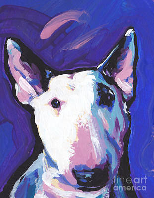 Bull Terrier Painting - On Spot by Lea S