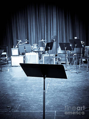 Jazz Band Photograph - On Stage by Edward Fielding
