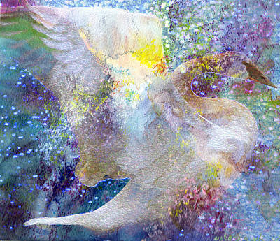 On Swan's Wings Art Print