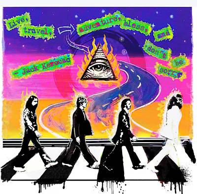 The Beatles Abbey Road Painting - On The Abbey Road by Renee Reeser Zelnick