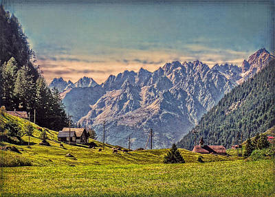 On The Alp Art Print by Hanny Heim