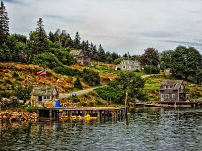 On The Bay In Frenchboro Maine Art Print by Mountain Dreams