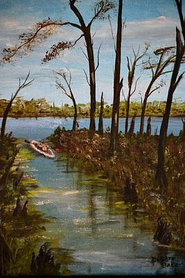 Art Print featuring the painting On The Bayou by Debbie Baker